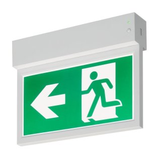 P-LIGHT Emergency Exit sign small ceiling/wall, white