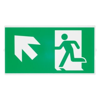 SLV P-LIGHT Emergency stair sign, small, green