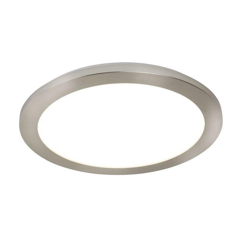 Satin Silber Und Acryl 23W Led Deckenbündige Leuchte Durchmesser 40Cm Ip44