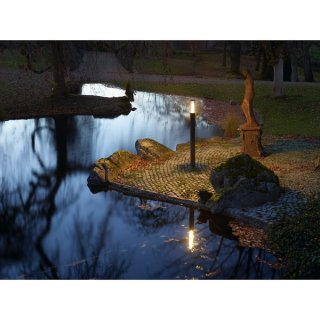 SLV POLE PARC 200 SL, LED Outdoor Stehleuchte, IP44, anthrazit, 3000K