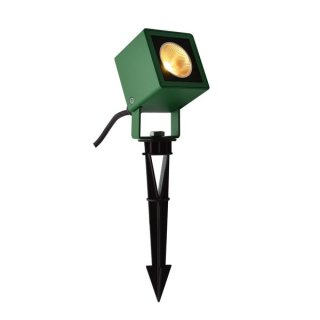SLV NAUTILUS 10 Spike, LED Outdoor Erdspießleuchte, grün IP65 3000K, 45°