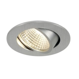 SLV NEW TRIA LED 3W DL ROUND Set, Downlight, alu-brushed, 38°, 3000K, inkl. Treiber, Clipfed.