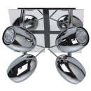 MW-LIGHT LED Strahler und Spots chrome/Metall, 4 x 5W LED...